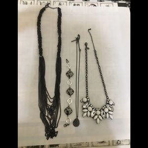 Black and white jewelry bundle
